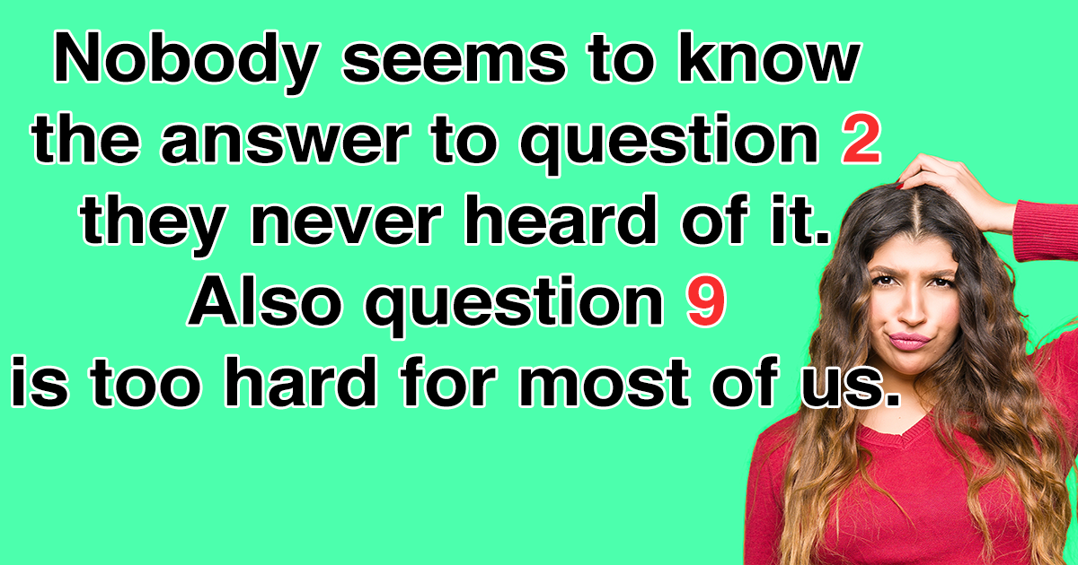 10 Mixed Knowledge Questions